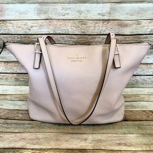Kate Spade ♠️ Pink Pebbled Leather Tote